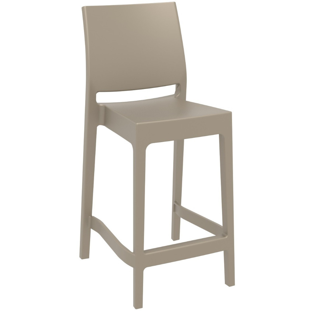 Maya Resin Outdoor Counter Stool Taupe ISP100-DVR