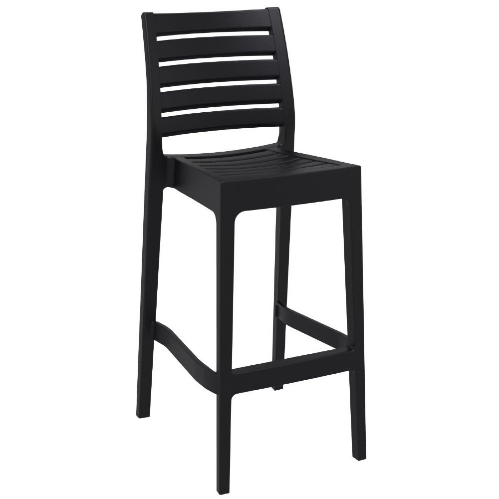 Ares Resin Outdoor Barstool Black ISP101-BLA