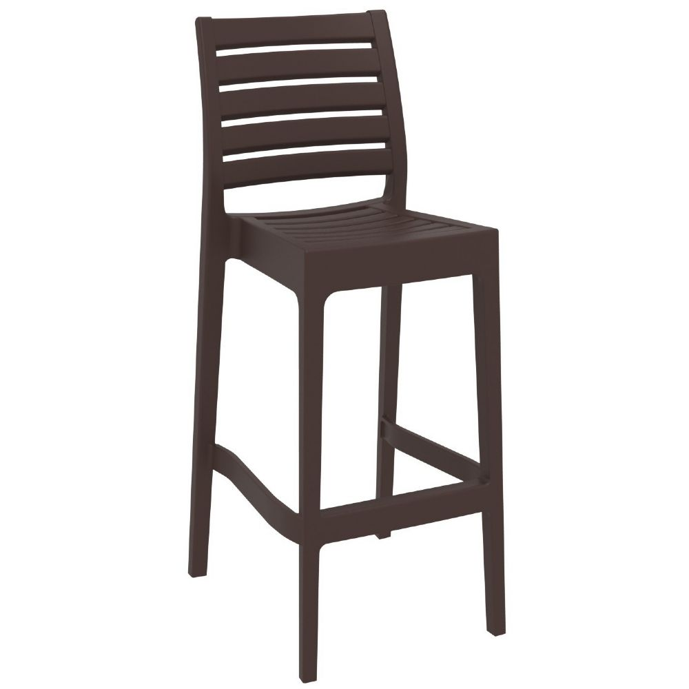 Ares Resin Outdoor Barstool Brown ISP101-BRW