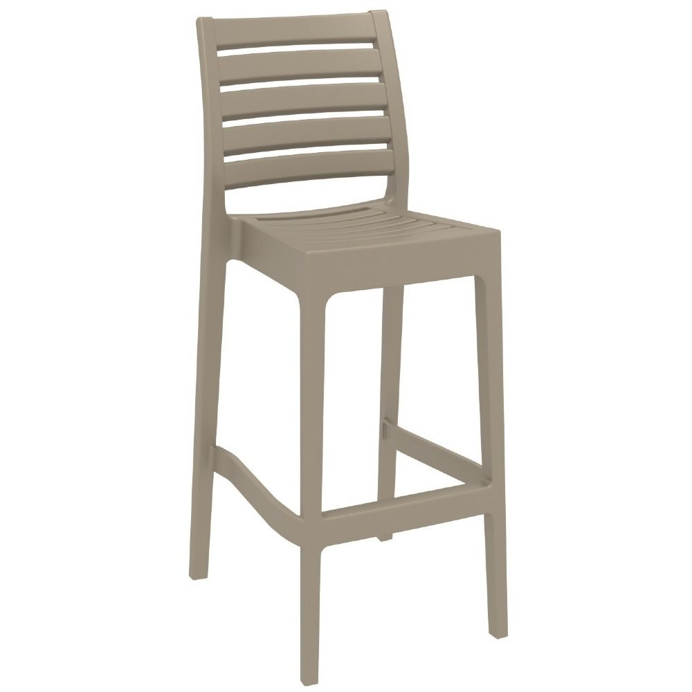 Ares Resin Outdoor Barstool Dove Gray ISP101-DVR