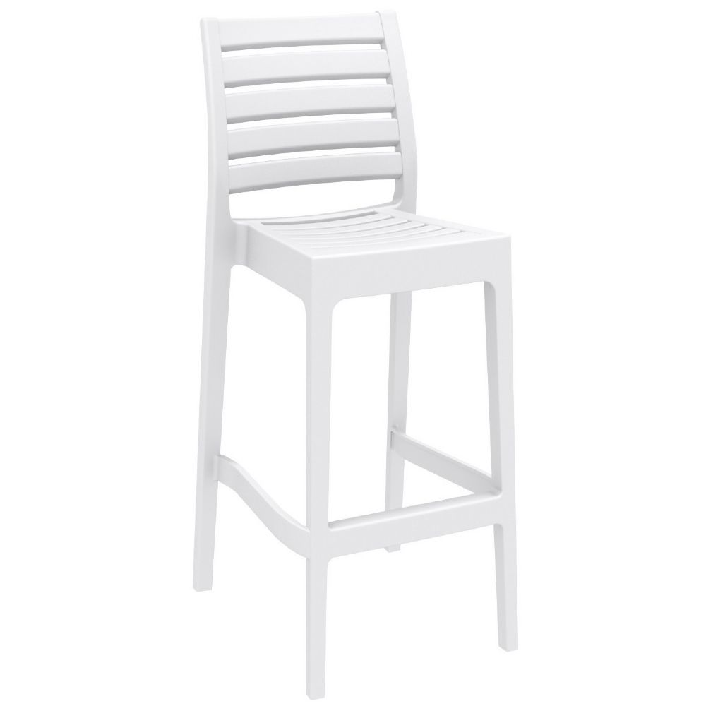 Ares Resin Outdoor Barstool White ISP101-WHI