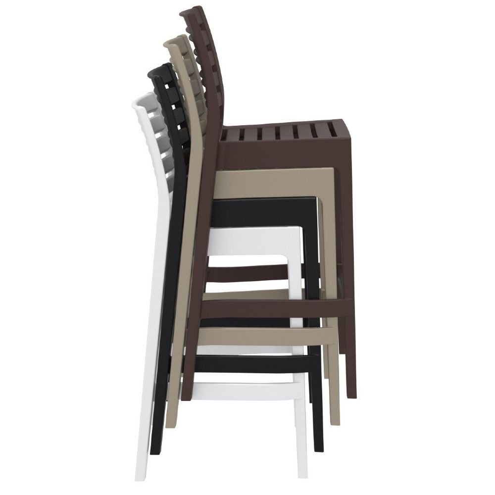 Compamia Ares Resin Outdoor Barstool White Isp101 Whi