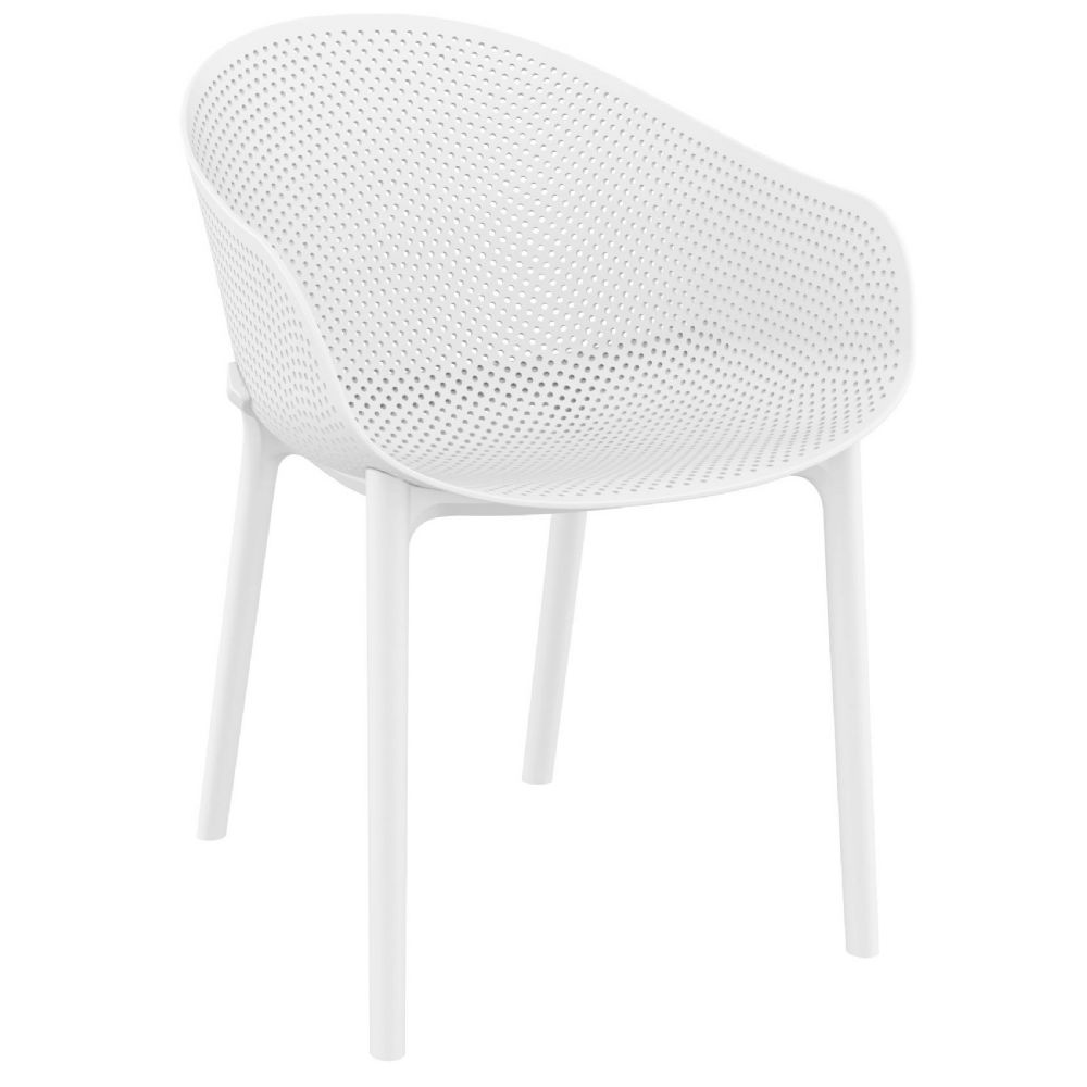 Sky Outdoor-Indoor Armchair White ISP102-WHI