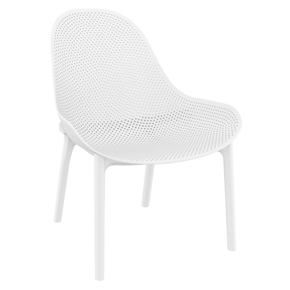 Sky Outdoor Indoor Lounge Chair White ISP103-WHI