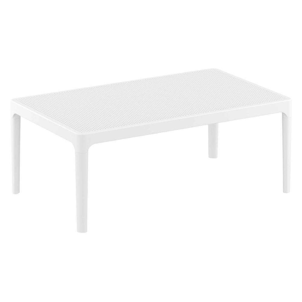 Sky Outdoor Coffee Table White ISP104-WHI