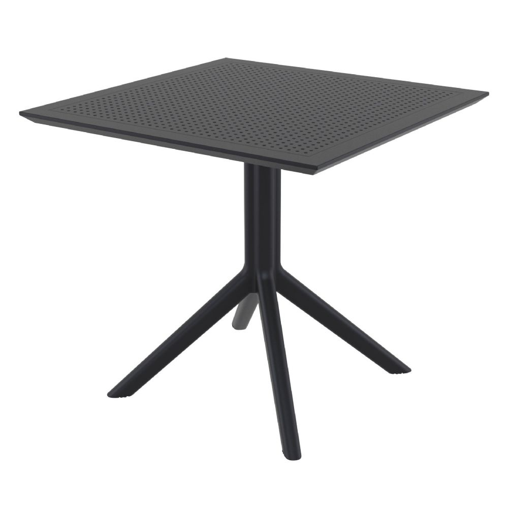 Sky Square Outdoor Dining Table 31 inch Black ISP106-BLA
