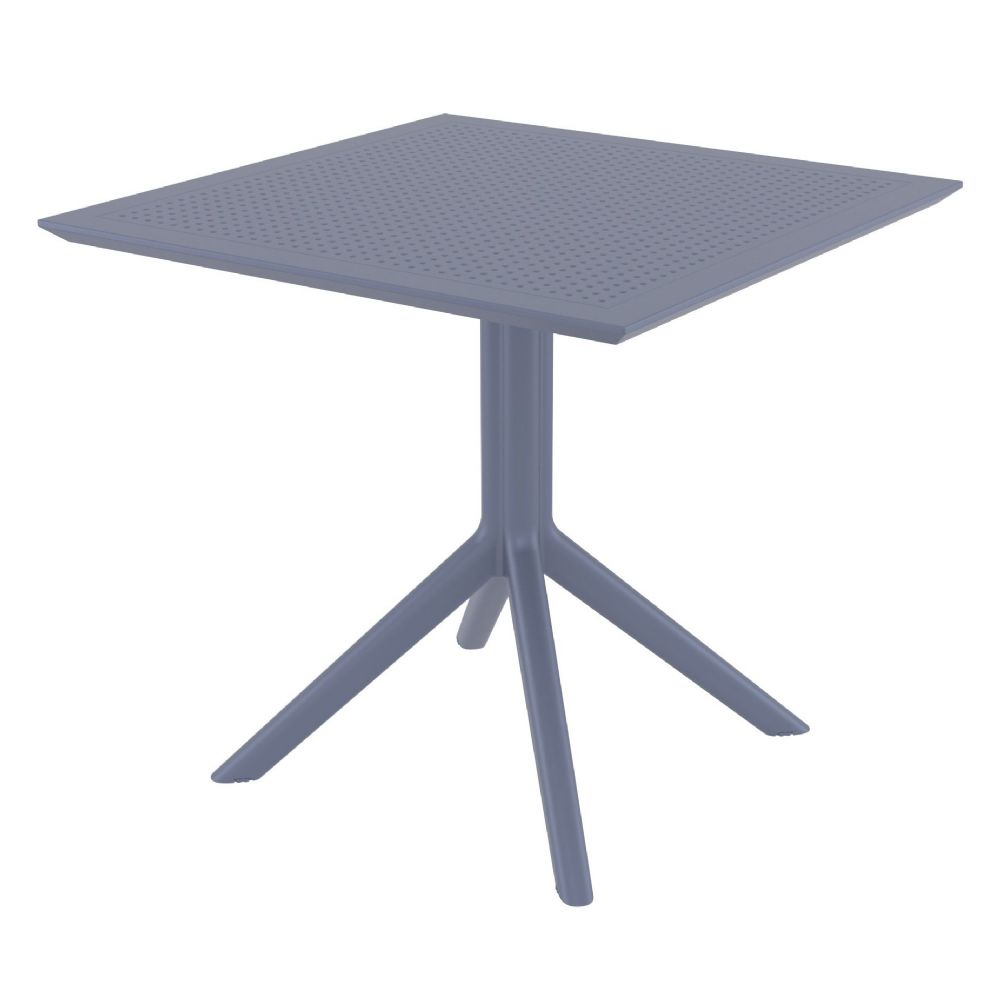 Sky Square Dining Table 31 inch Dark Gray ISP106-DGR