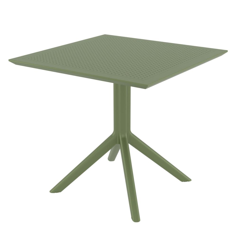 Sky Square Table 31 inch Olive Green ISP106-OLG