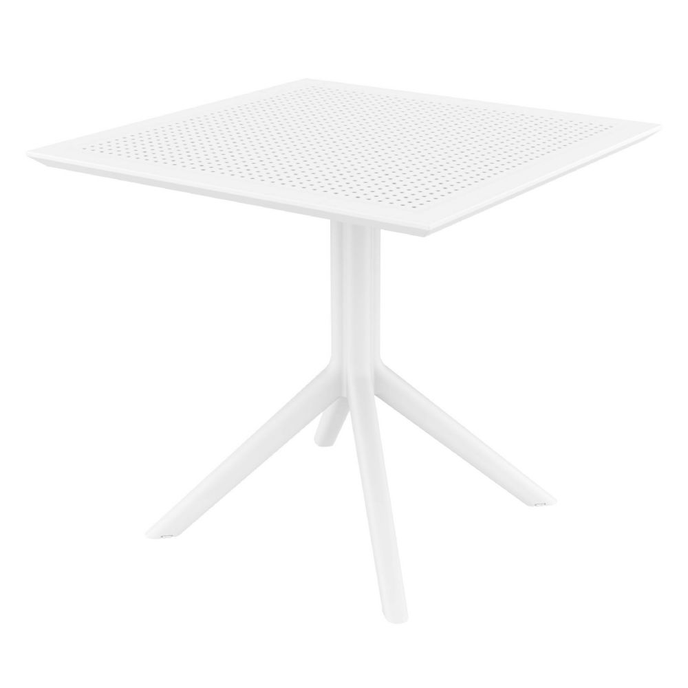 Sky Square Outdoor Dining Table 31 inch White ISP106-WHI