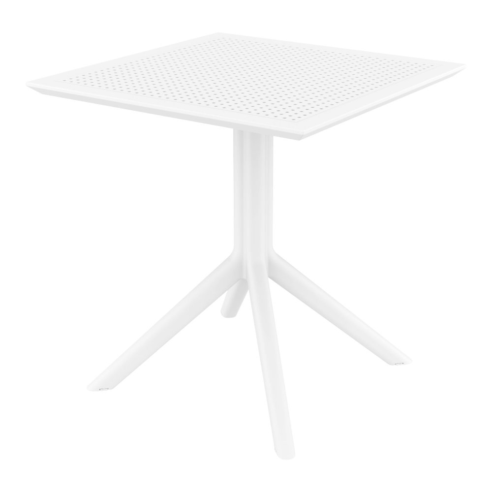 Sky Square Outdoor Dining Table 27 inch White ISP108-WHI