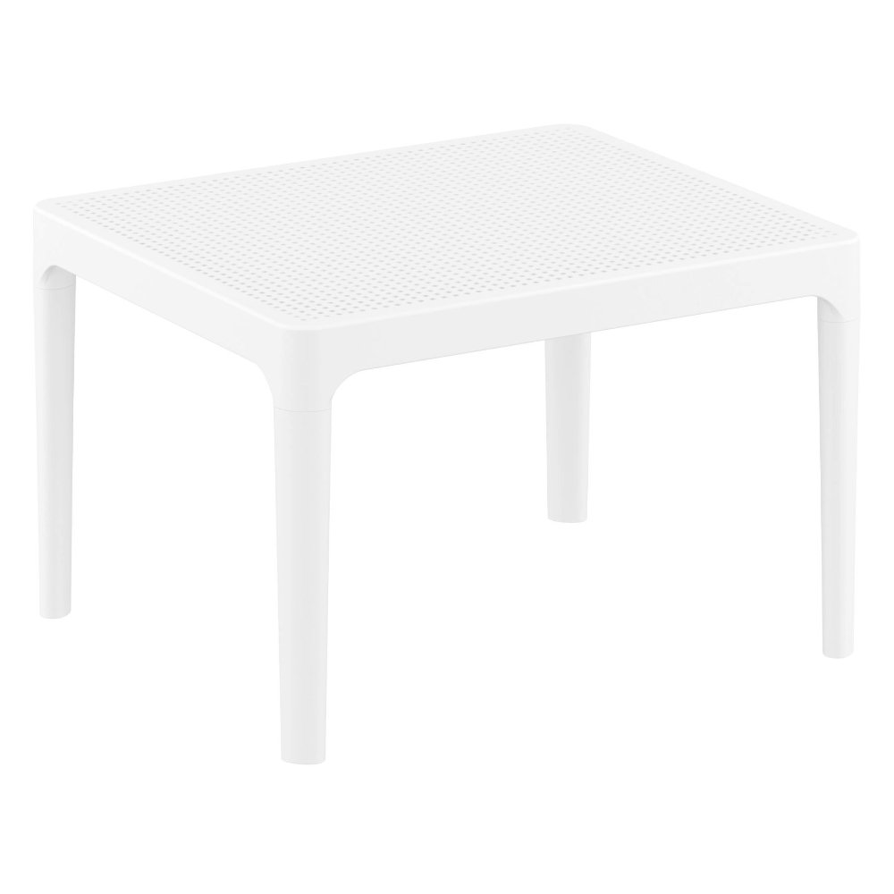 Sky Outdoor Side Table White ISP109-WHI