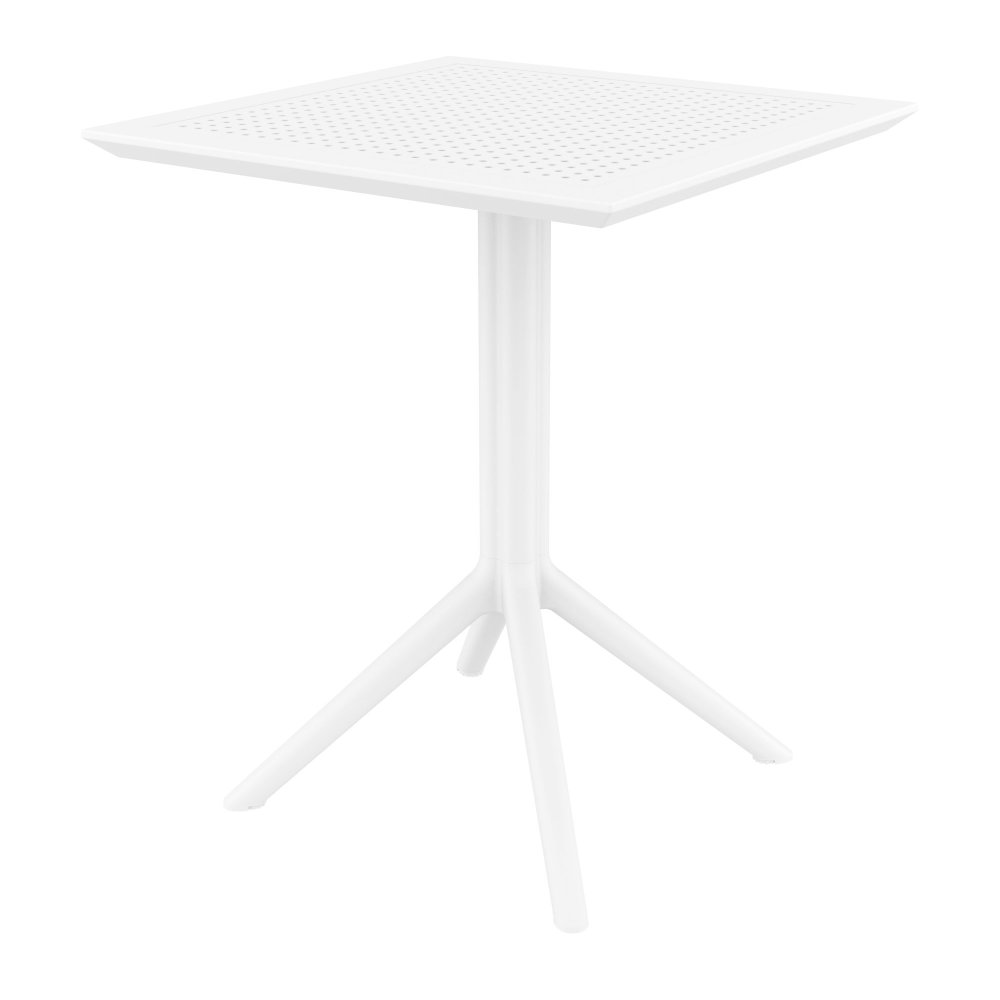 Sky Square Folding Table 24 inch White ISP114-WHI