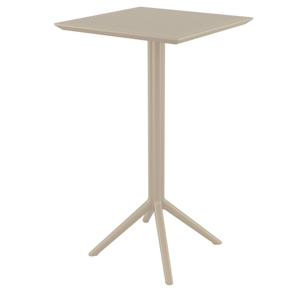 Sky Square Folding Bar Table 24 inch Taupe ISP116-DVR
