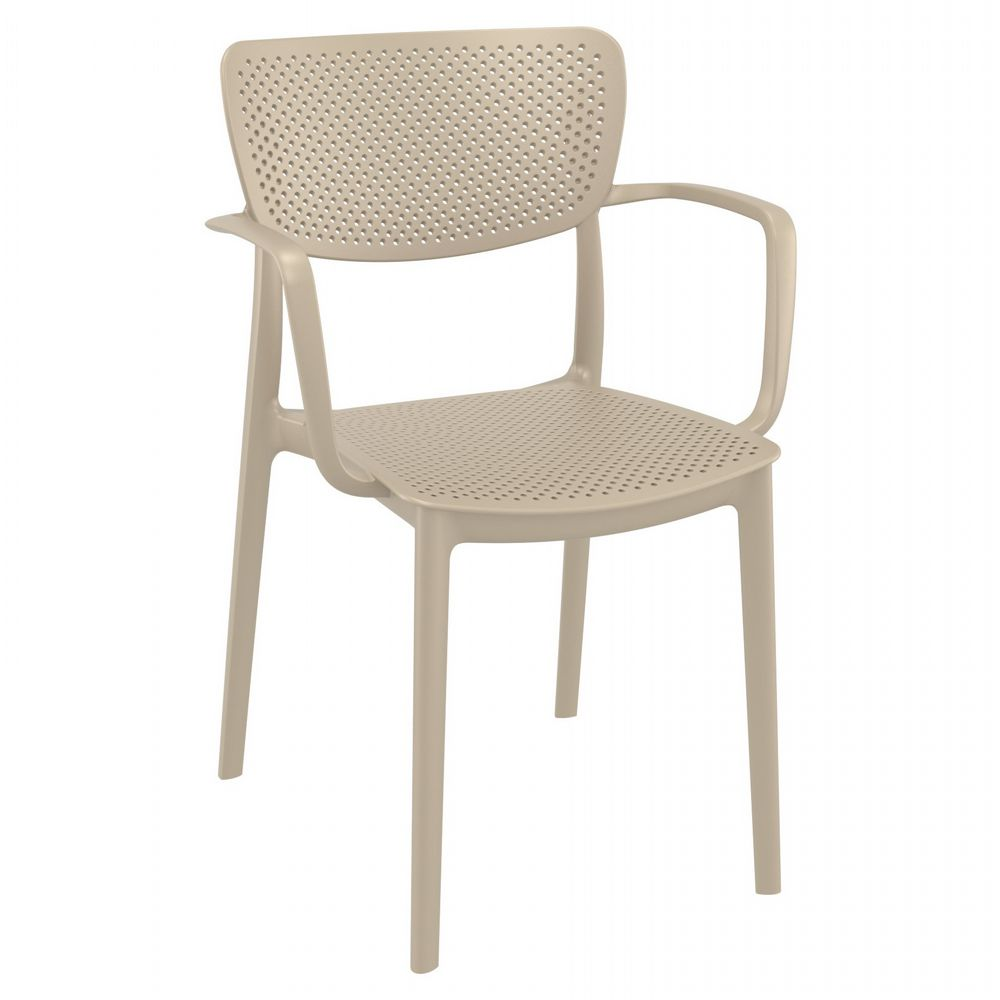 Loft Outdoor Dining Arm Chair Taupe ISP128-DVR