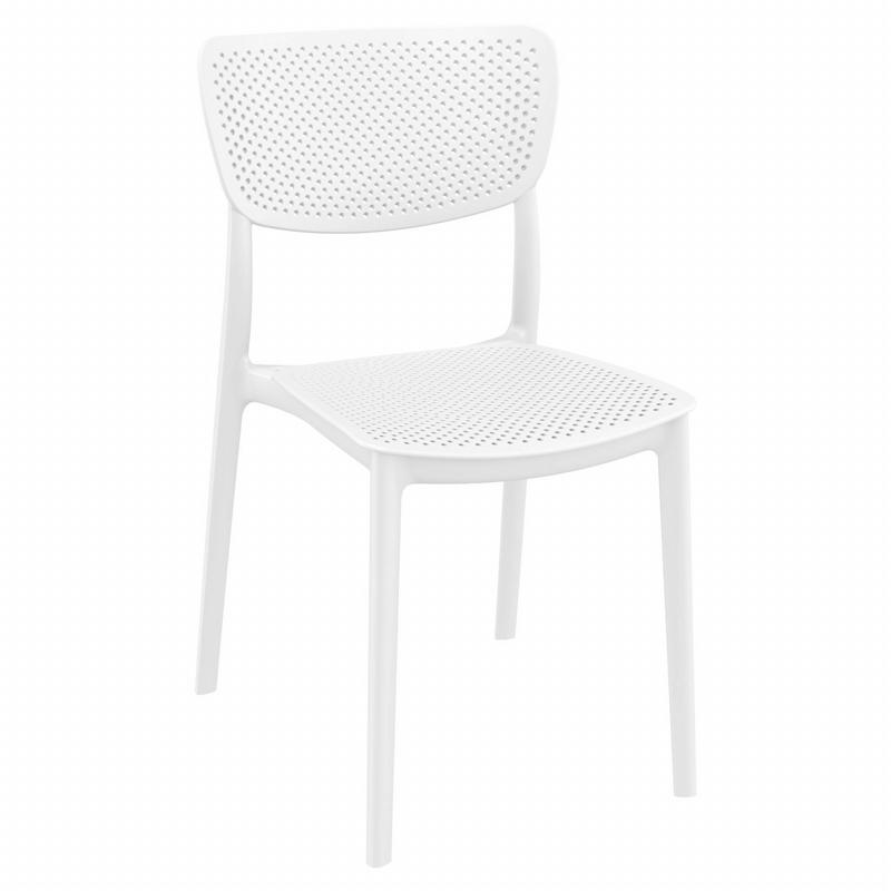 Lucy Dining Chair White ISP129-WHI