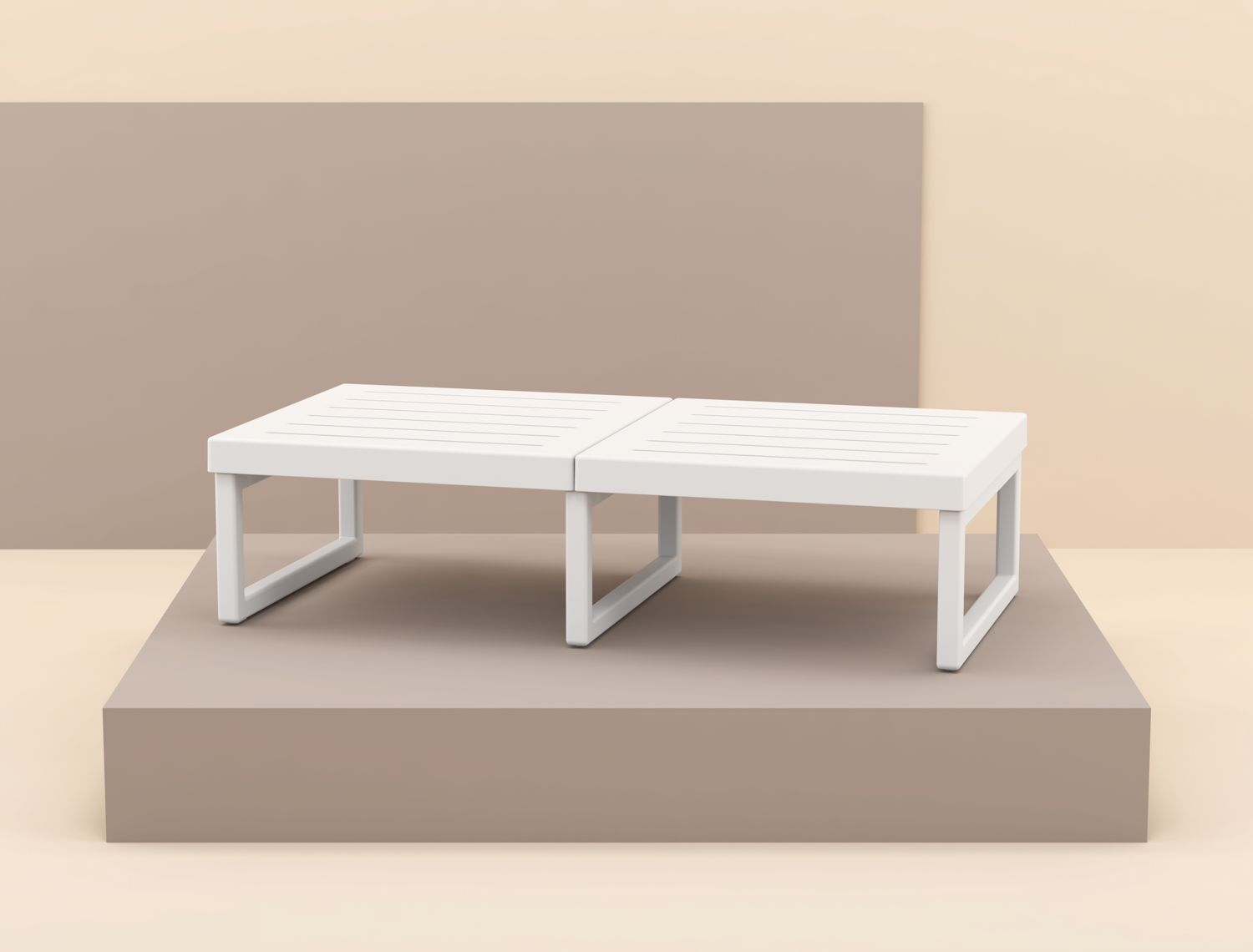 Mykonos Rectangle Coffe Table White ISP138-WHI - 1