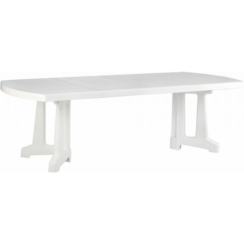 Sunrise Extendable Resin Dining Table 95 inch ISP156-WHI