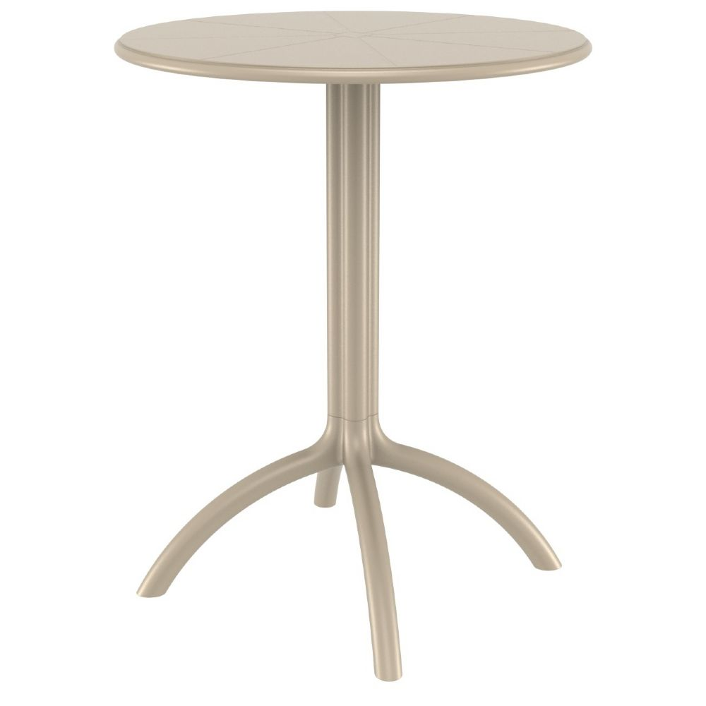 Octopus Outdoor Dining Table 24 inch Round Taupe ISP160-DVR