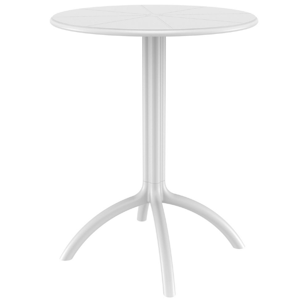 Octopus Outdoor Dining Table 24 Inch Round White Isp160 Whi