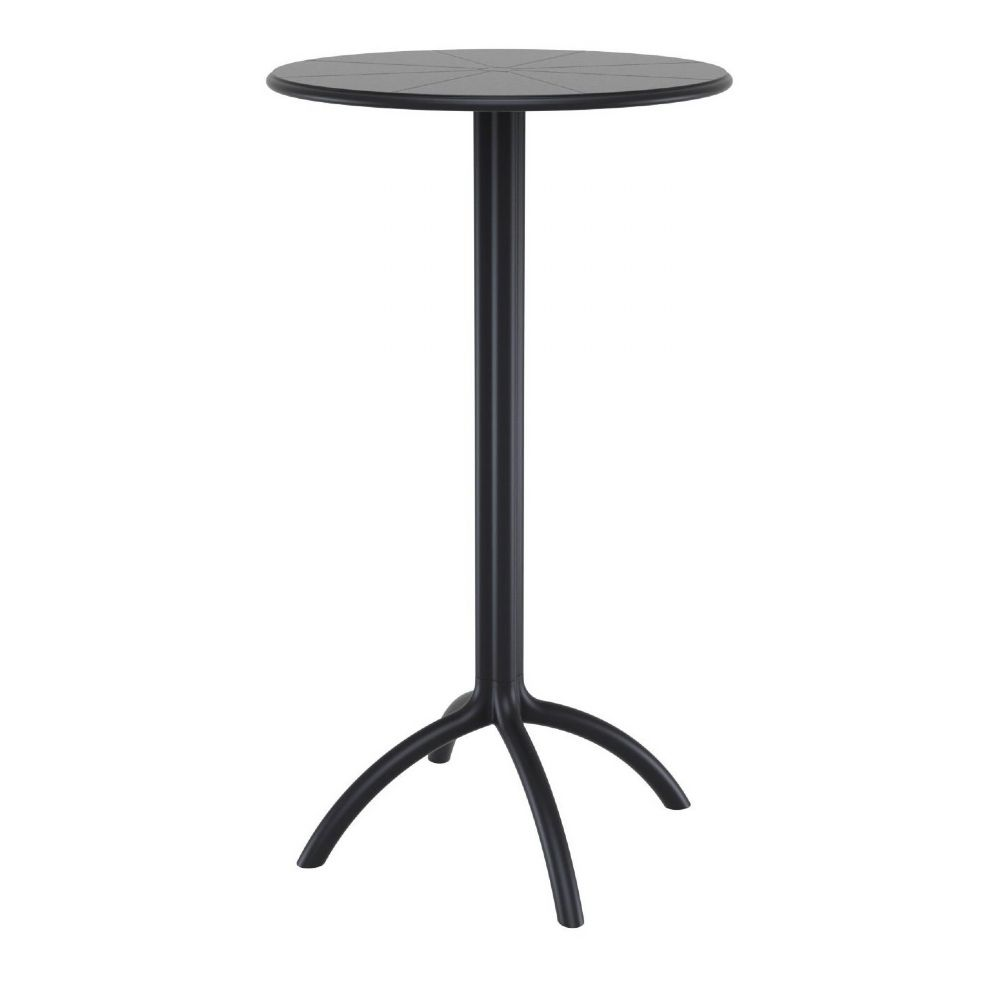 Octopus Bar Table 24 inch Round Black ISP161-BLA