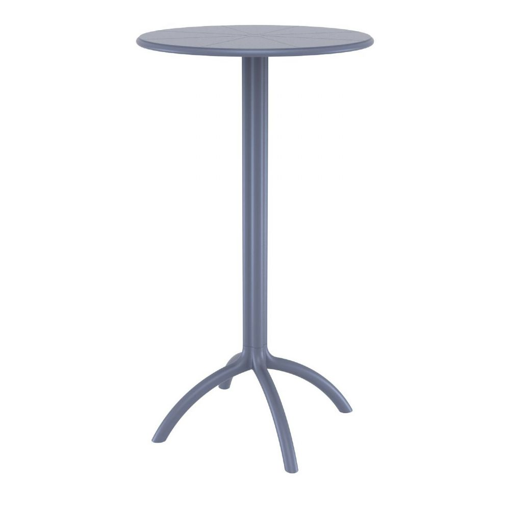 Octopus Bar Table 24 inch Round Dark Gray ISP161-DGR