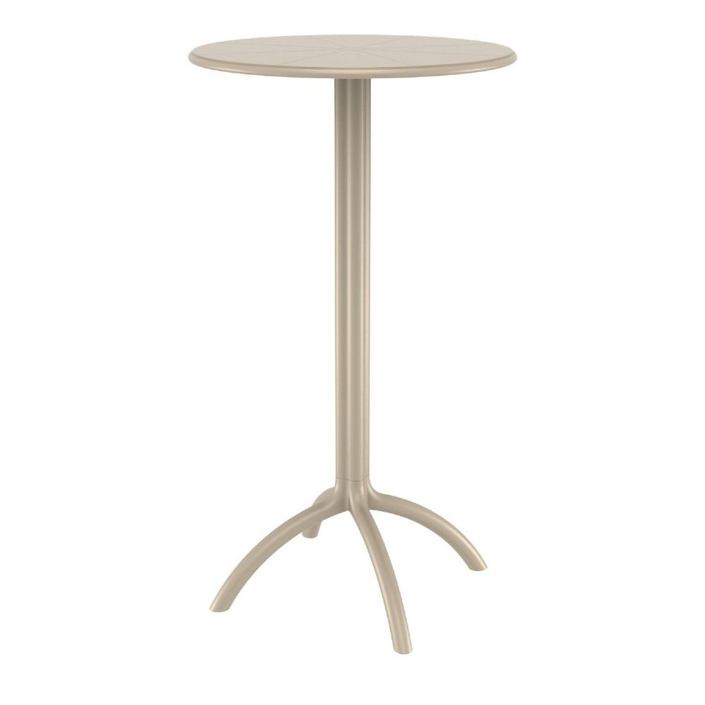 Octopus Bar Table 24 inch Round Dove Gray ISP161-DVR