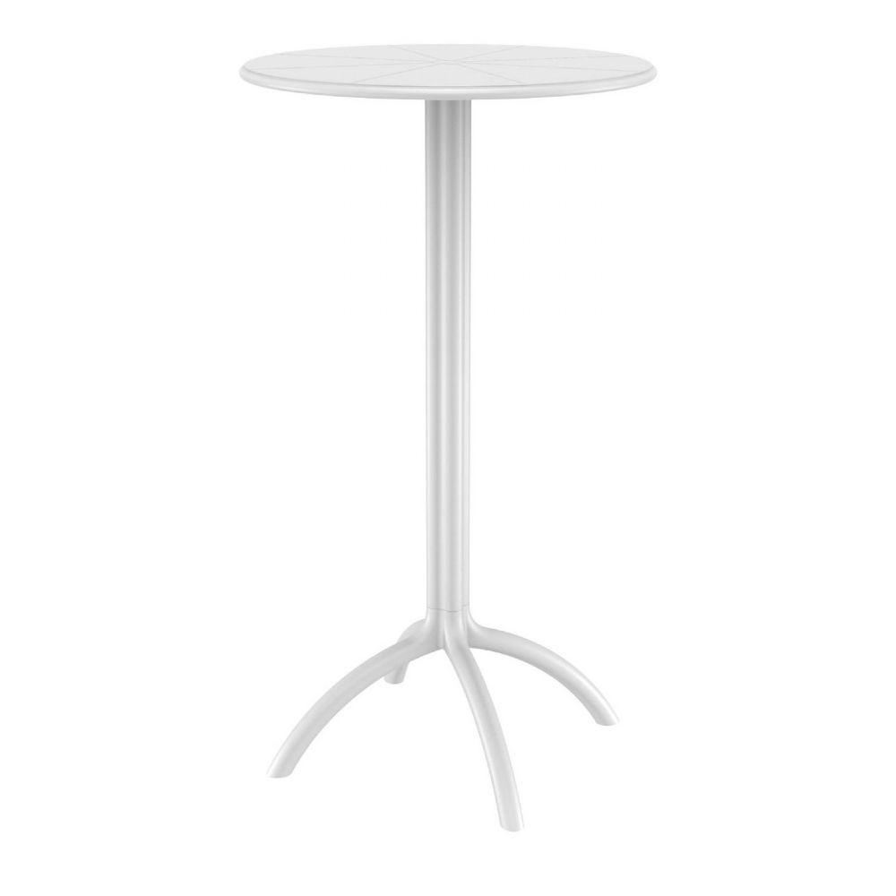 Octopus Bar Table 24 inch Round White ISP161-WHI