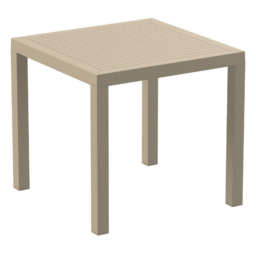 Ares Resin Outdoor Table 31 inch Square Taupe ISP164-DVR