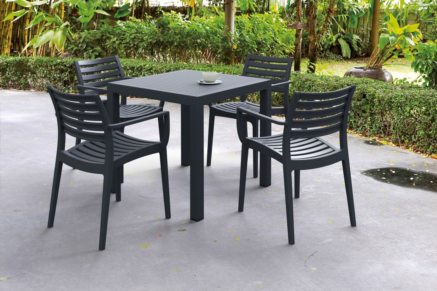 Artemis Resin Square Outdoor Dining Set 5 Piece with Arm Chairs ISP1642S - 2