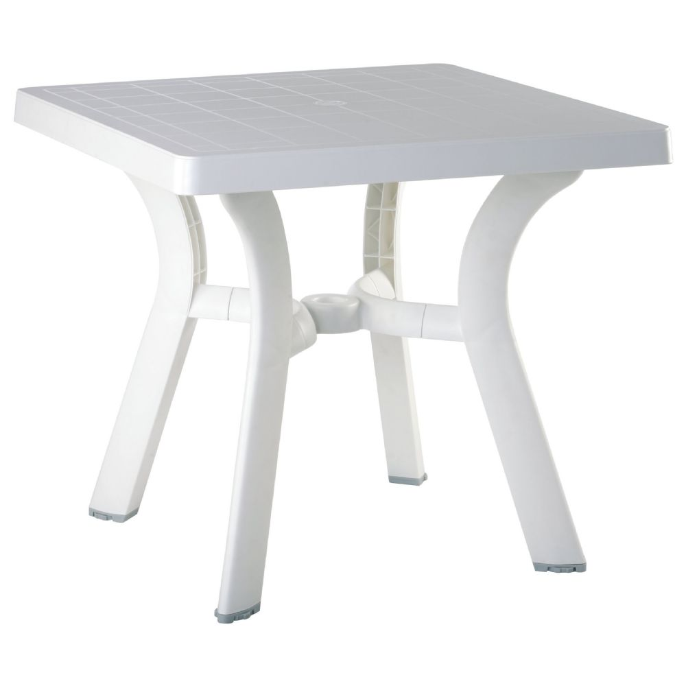 Viva Resin Square Dining Table 31 inch ISP168-WHI
