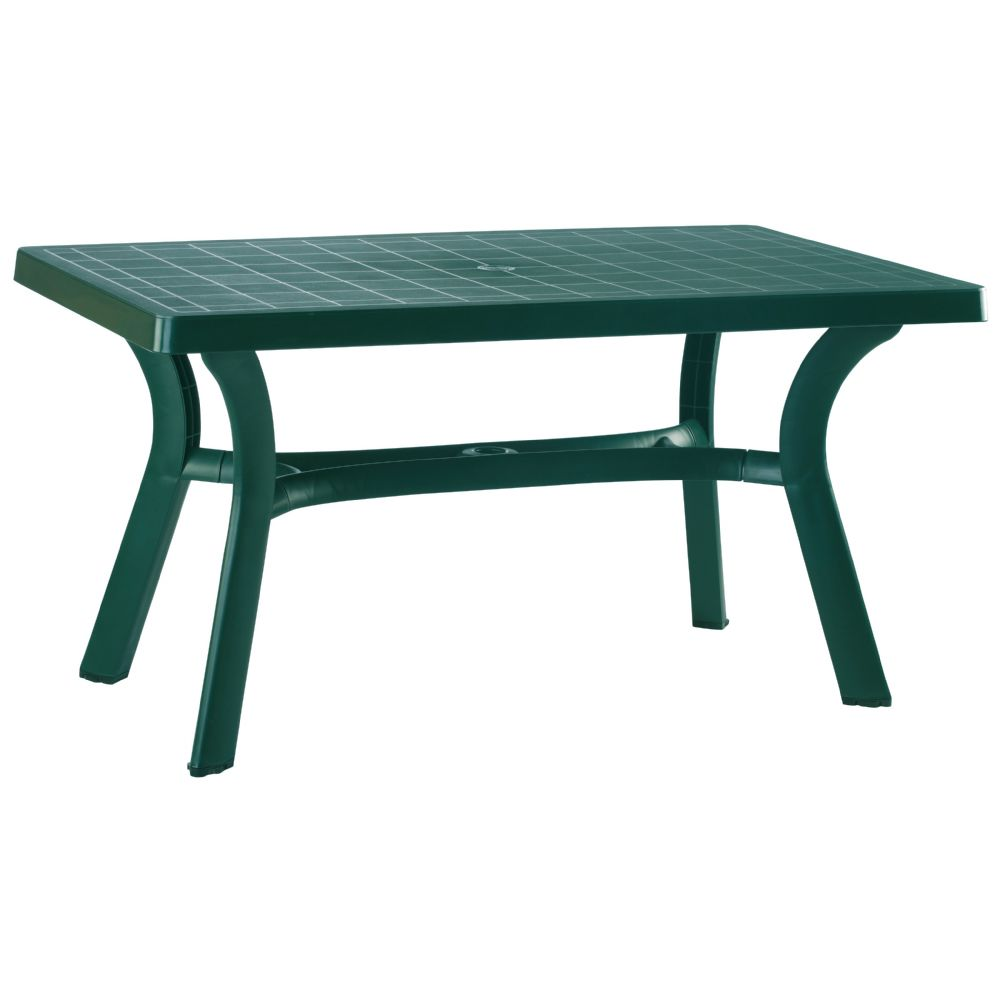 Sunrise Resin Rectangle Table 55 inch Dark Green ISP182-GRE
