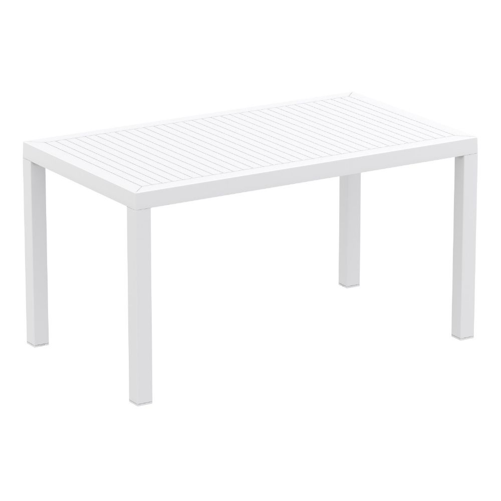 Ares Rectangle Outdoor Table 55 inch White ISP186-WHI