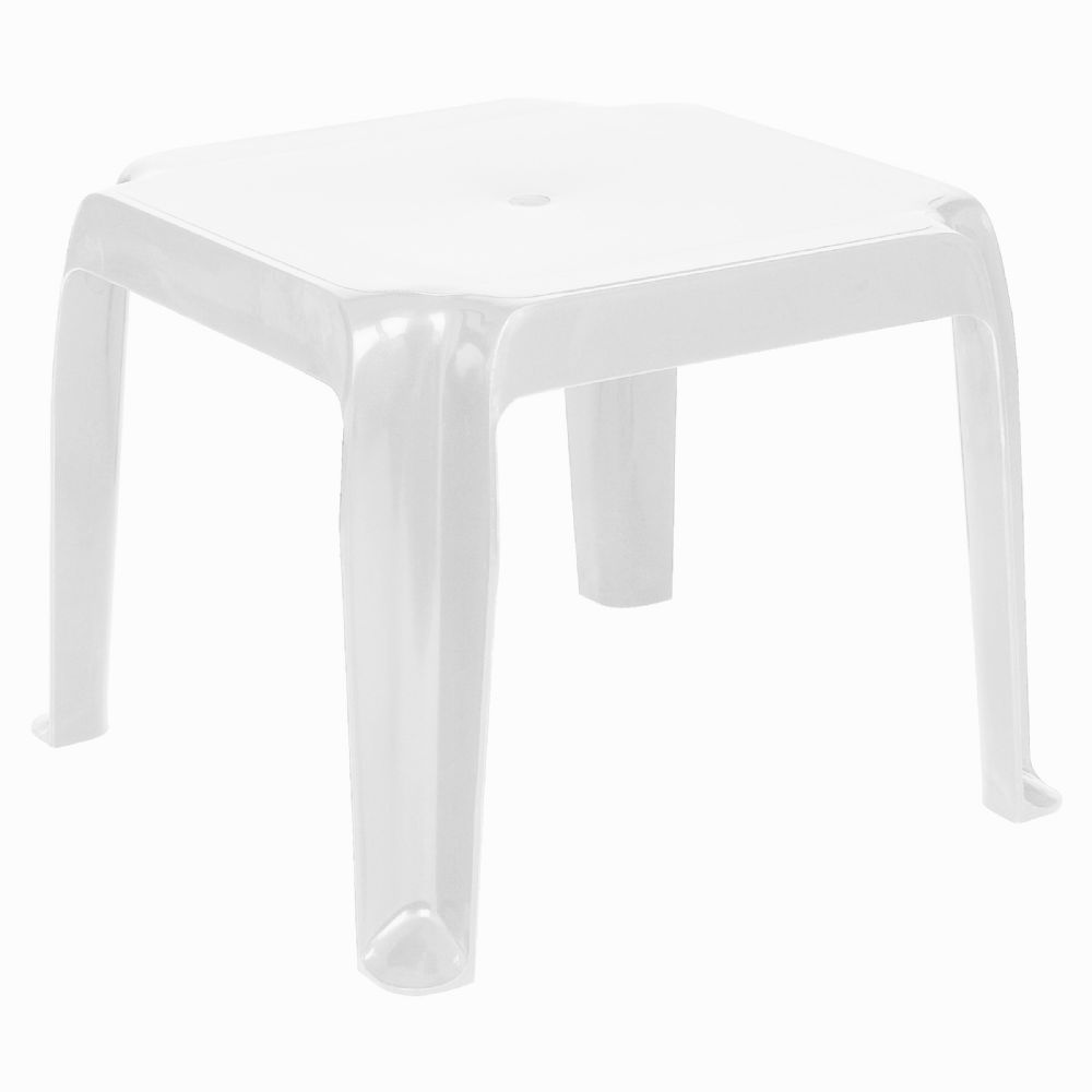 Sunray Resin Square Side Table White ISP240-WHI