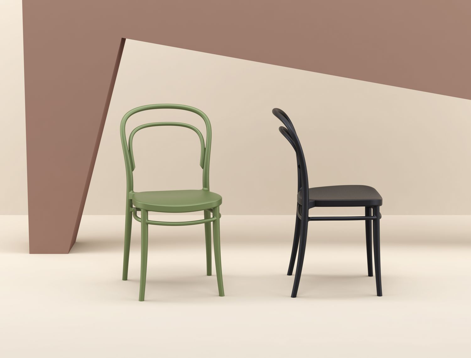 Marie Resin Outdoor Chair Black ISP251-BLA - 1