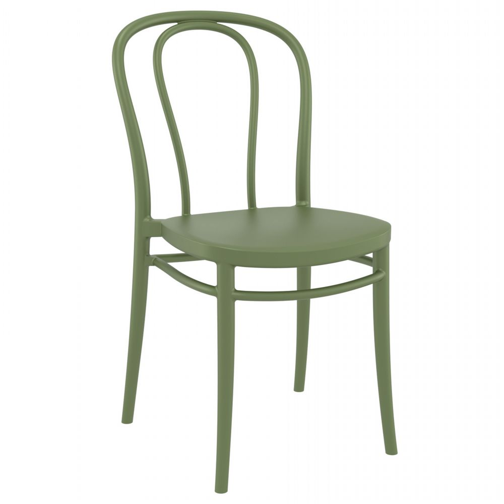Victor Resin Outdoor Chair Olive Green ISP252-OLG