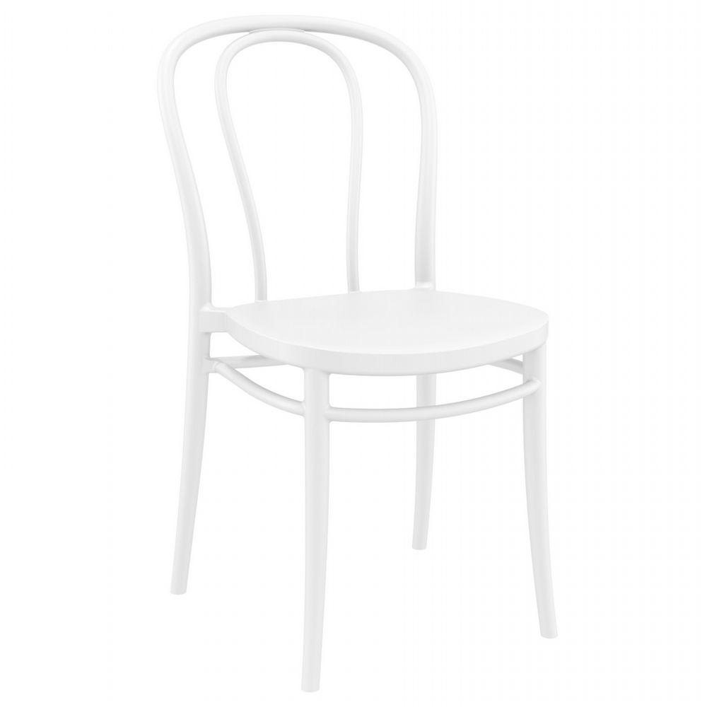 Victor Resin Outdoor Chair White ISP252-WHI