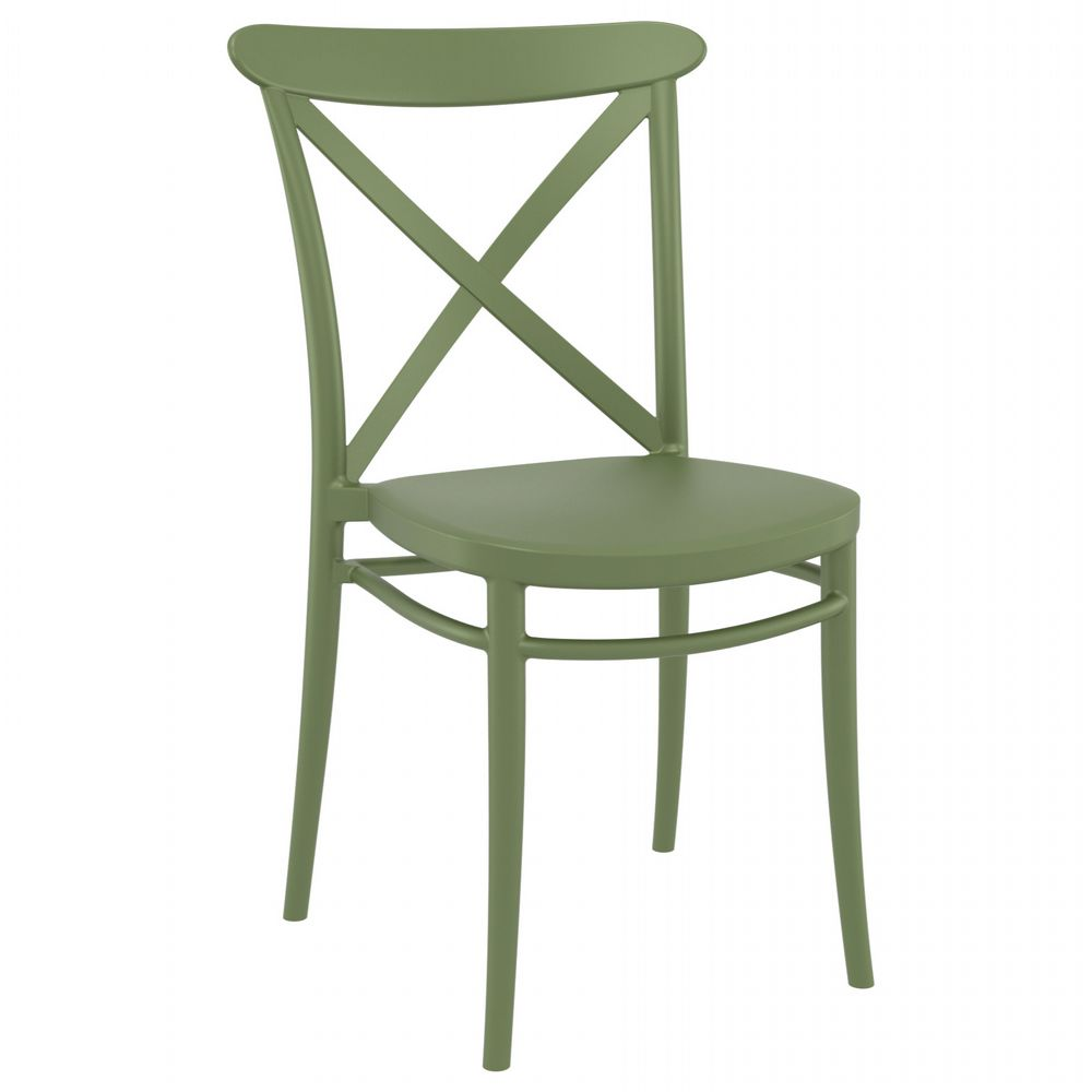 Cross Resin Outdoor Chair Olive Green ISP254-OLG