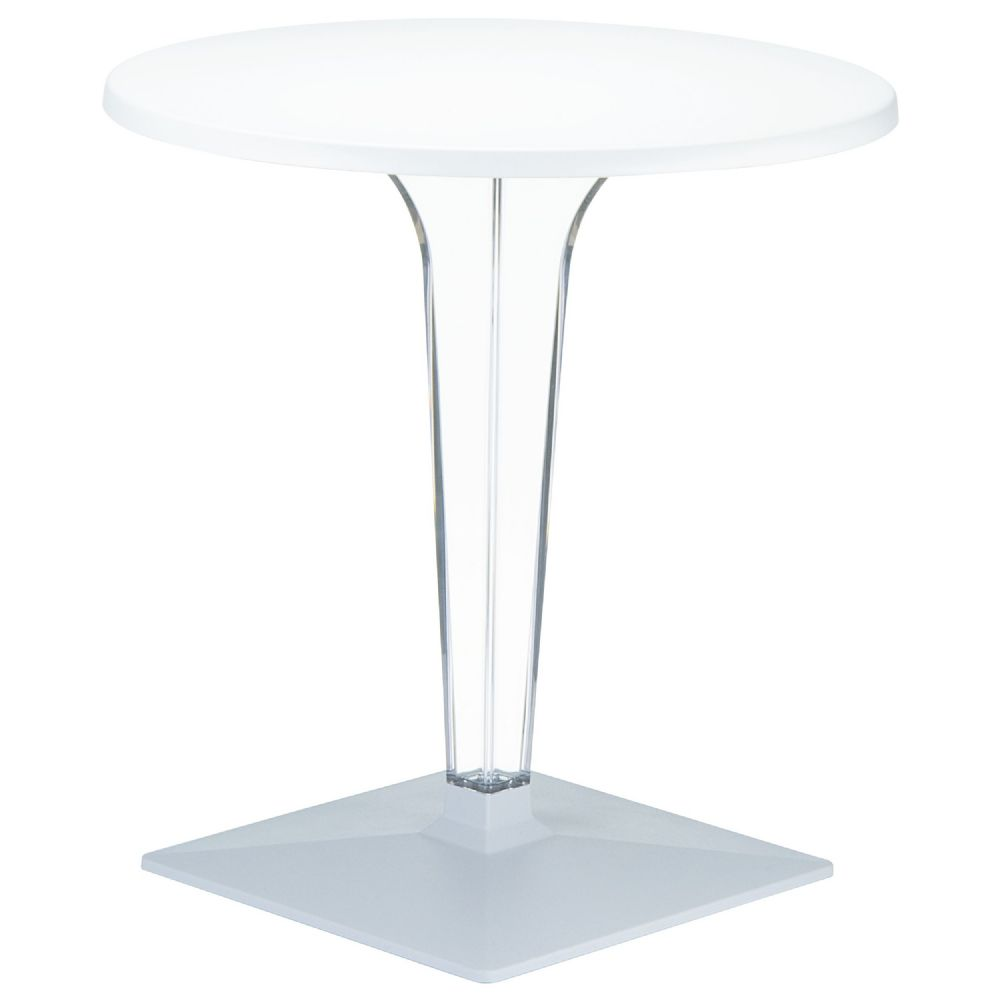 Ice Round Dining Table White Top 24 inch. ISP500-WHI