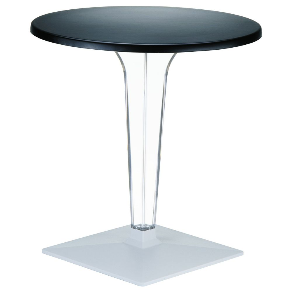 Ice Round Dining Table Black Top 28 inch. ISP510-BLA