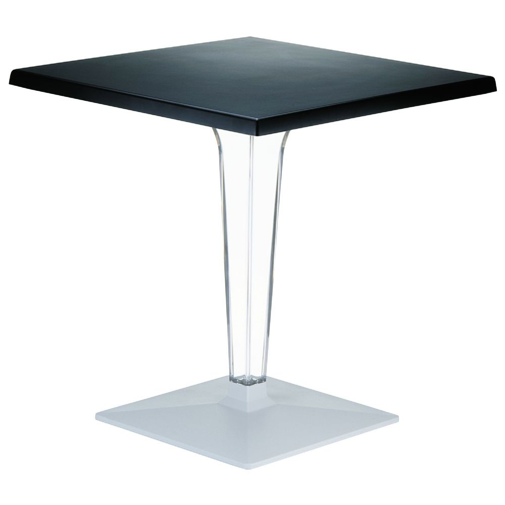 Ice Square Dining Table Black Top 28 inch. ISP560-BLA