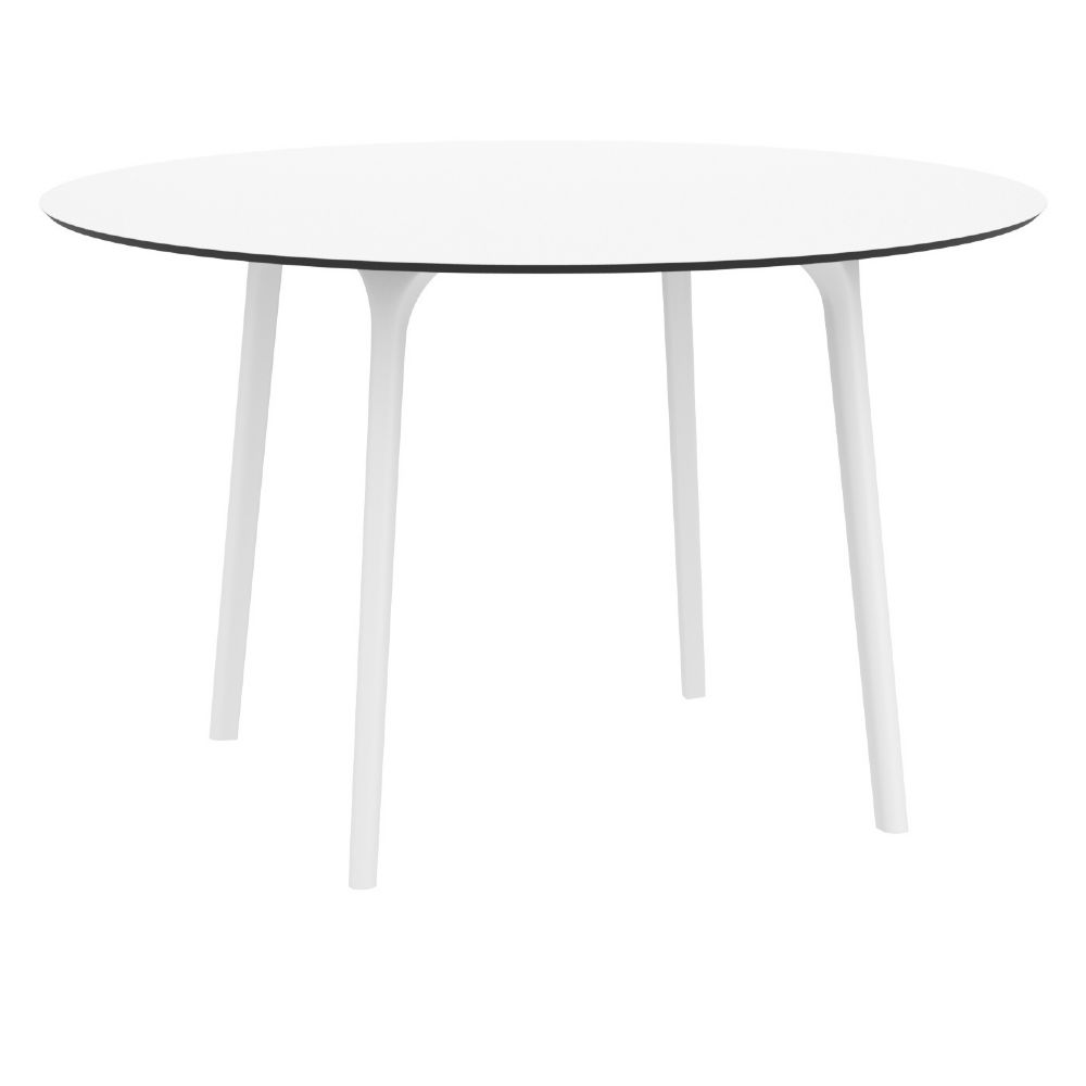 Maya Round Dining Table 47 inch White ISP675-WHI
