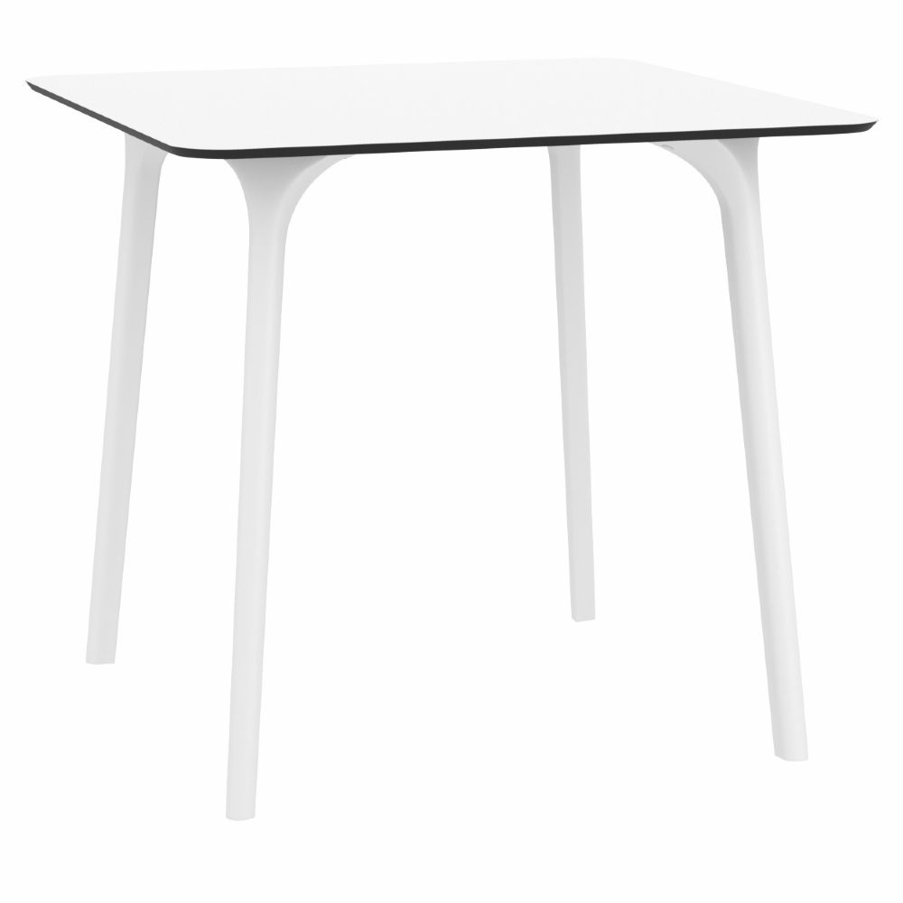 Maya Square Dining Table 32 inch White ISP685-WHI