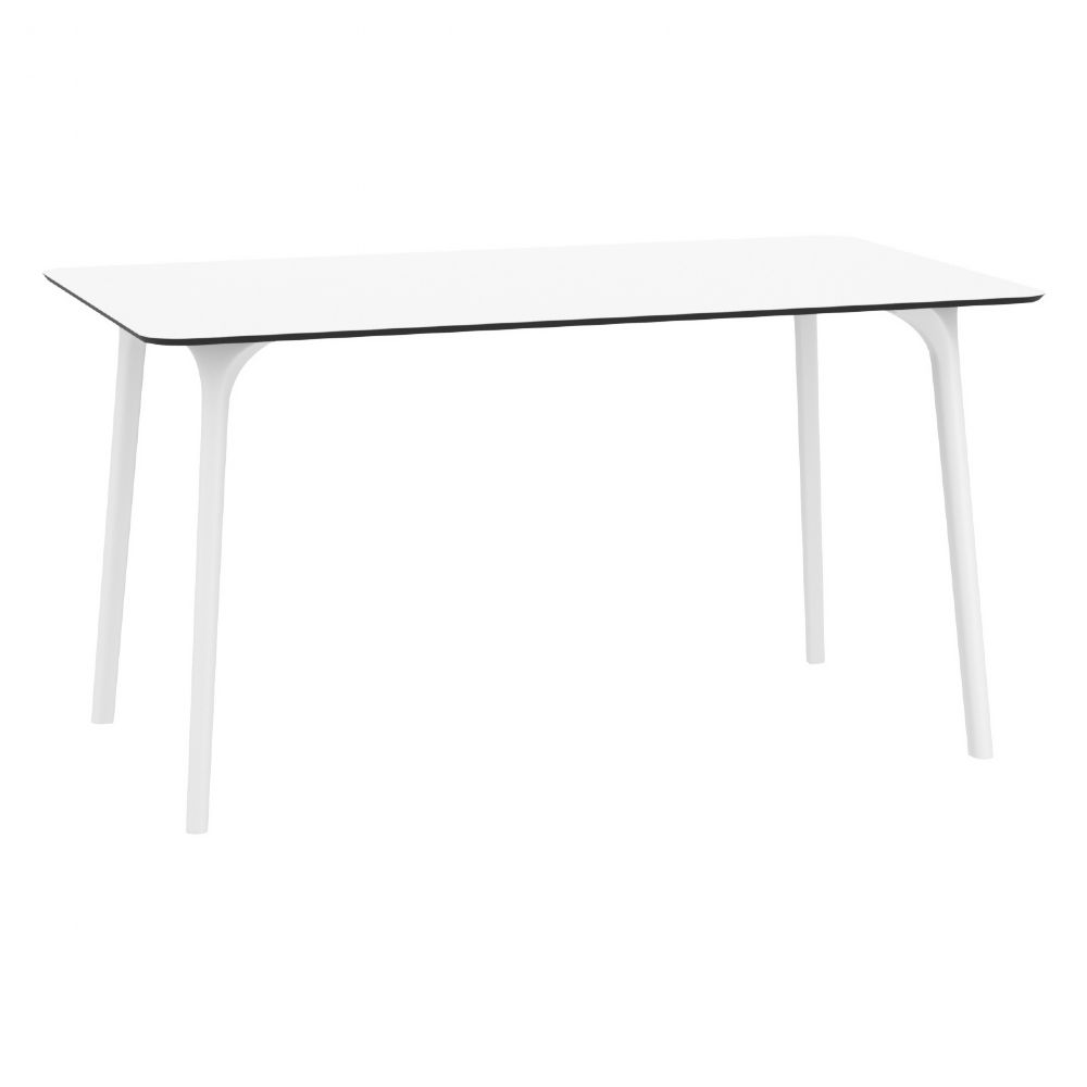 Maya Rectangle Dining Table 55 inch White ISP690-WHI