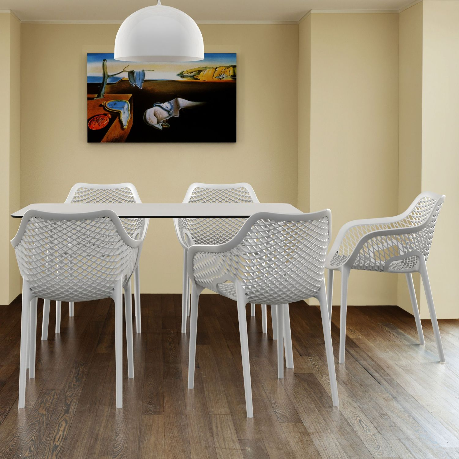 Maya Rectangle Dining Table 55 inch White ISP690-WHI - 7