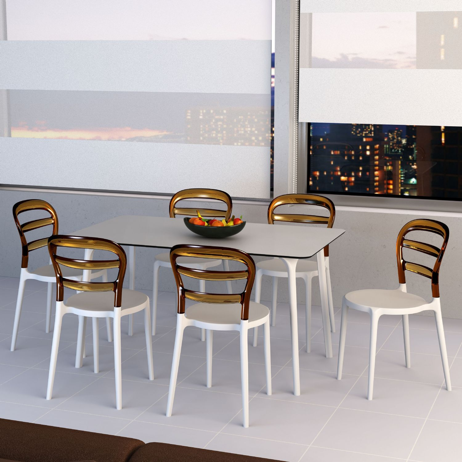 Maya Rectangle Dining Table 55 inch White ISP690-WHI - 17