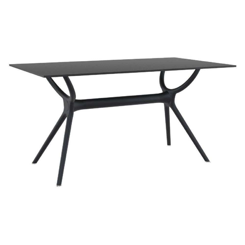 Compamia Air Rectangle Dining Table 55 Inch Black Isp705 Bla