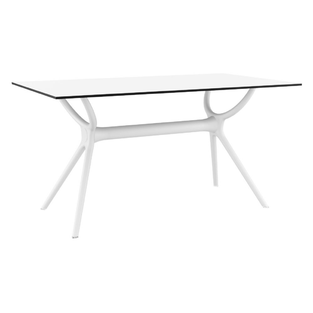 Air Rectangle Dining Table 55 inch White ISP705-WHI