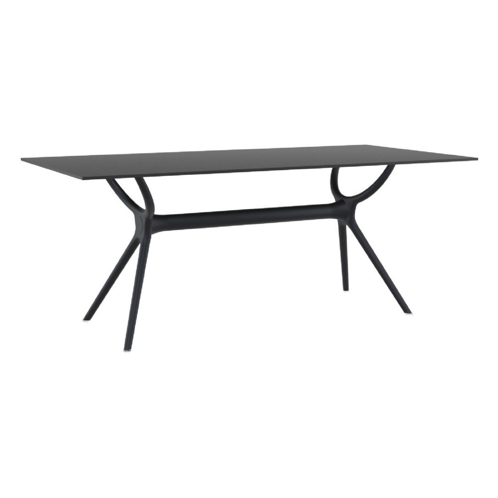 Air Rectangle Dining Table 71 inch Black ISP715-BLA