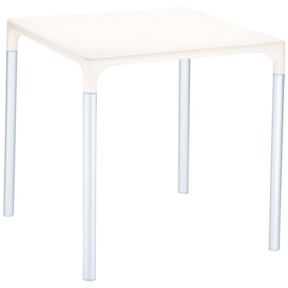 Mango Alu Square Outdoor Dining Table 28 inch Beige ISP758-BEI