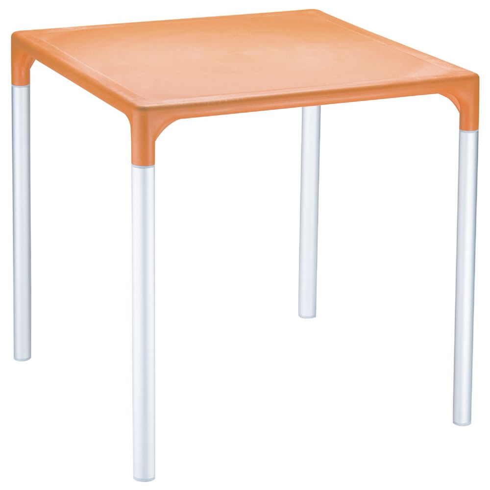 Mango Alu Square Outdoor Dining Table 28 inch Orange ISP758-ORA